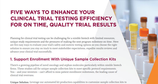 Clinical Trial Testing Efficiency Article