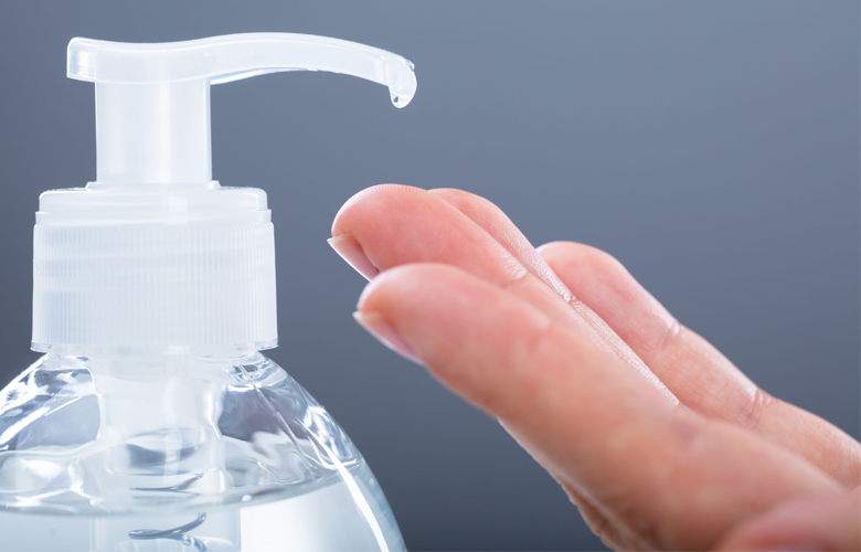 photo of a bottle of hand sanitizer