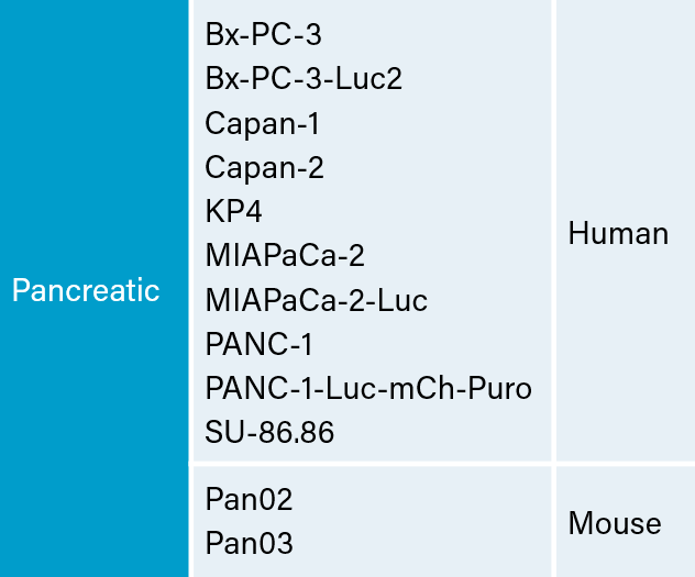 Pancreatic Carcinoma Cell Lines at Labcorp